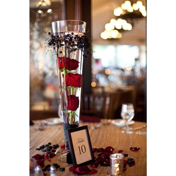 "20"" Tall Trumpet Heavy Duty Glass Centerpiece Vase Wedding Party Decoration - Clear - 12/Set"