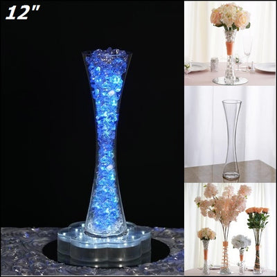 12 Tall Clear Hour Glass Shaped Floral Centerpiece Vase Wedding