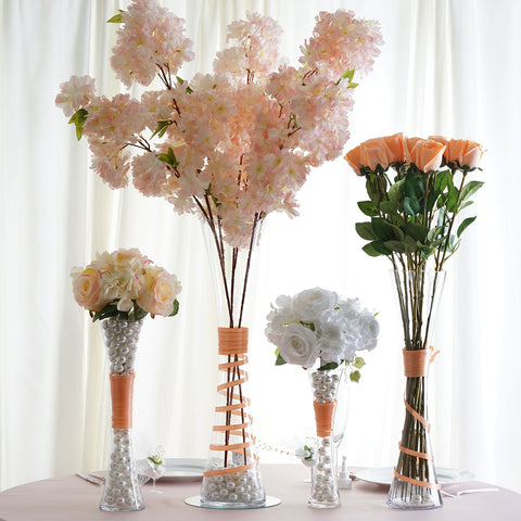 24 Tall Clear Hourglass Shaped Floral Centerpiece Vase Wedding