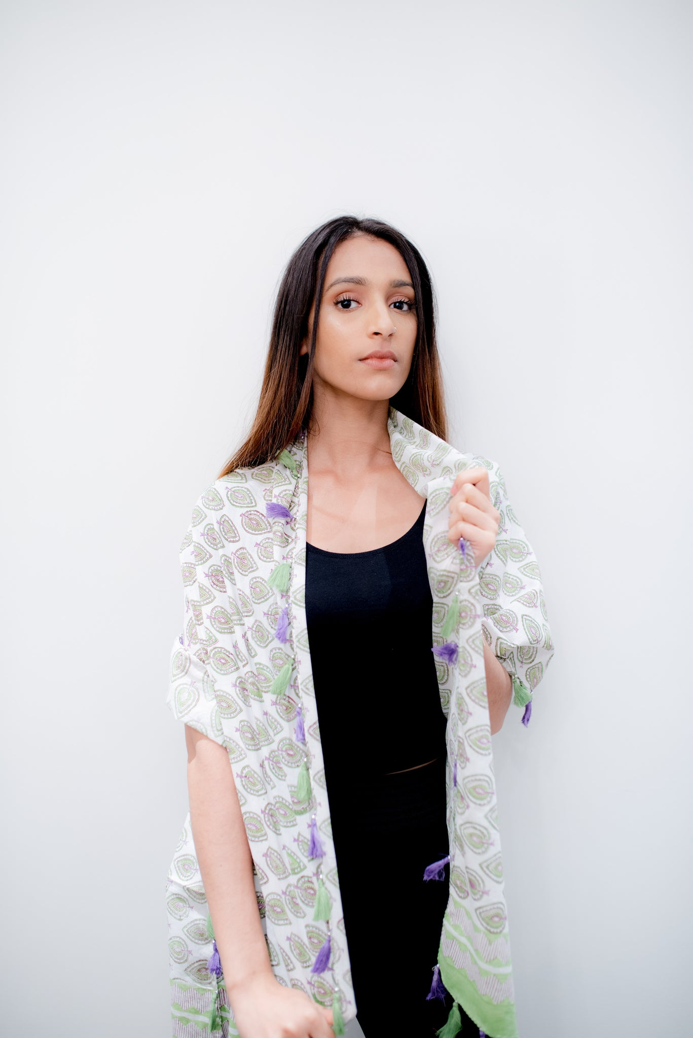 Block printed stole