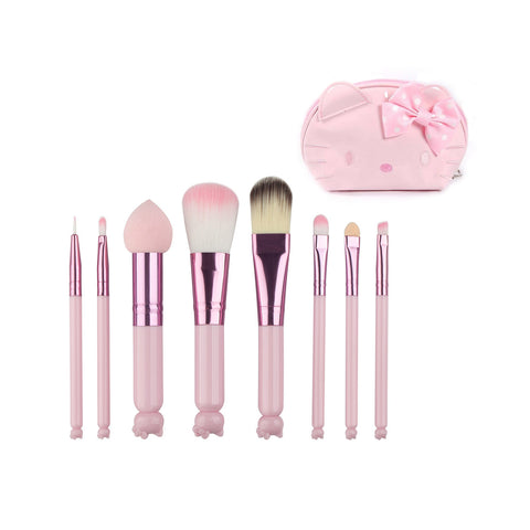 3D Hello Kitty Mini Makeup Brushes & Cosmetics Bag