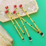 Beauty and the Beast style Makeup Brushes - Enchanted Rose