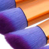10 Mini Makeup Brushes Mermaid Tones