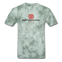 MCS Men's T-Shirt - Color Logo - military green tie dye