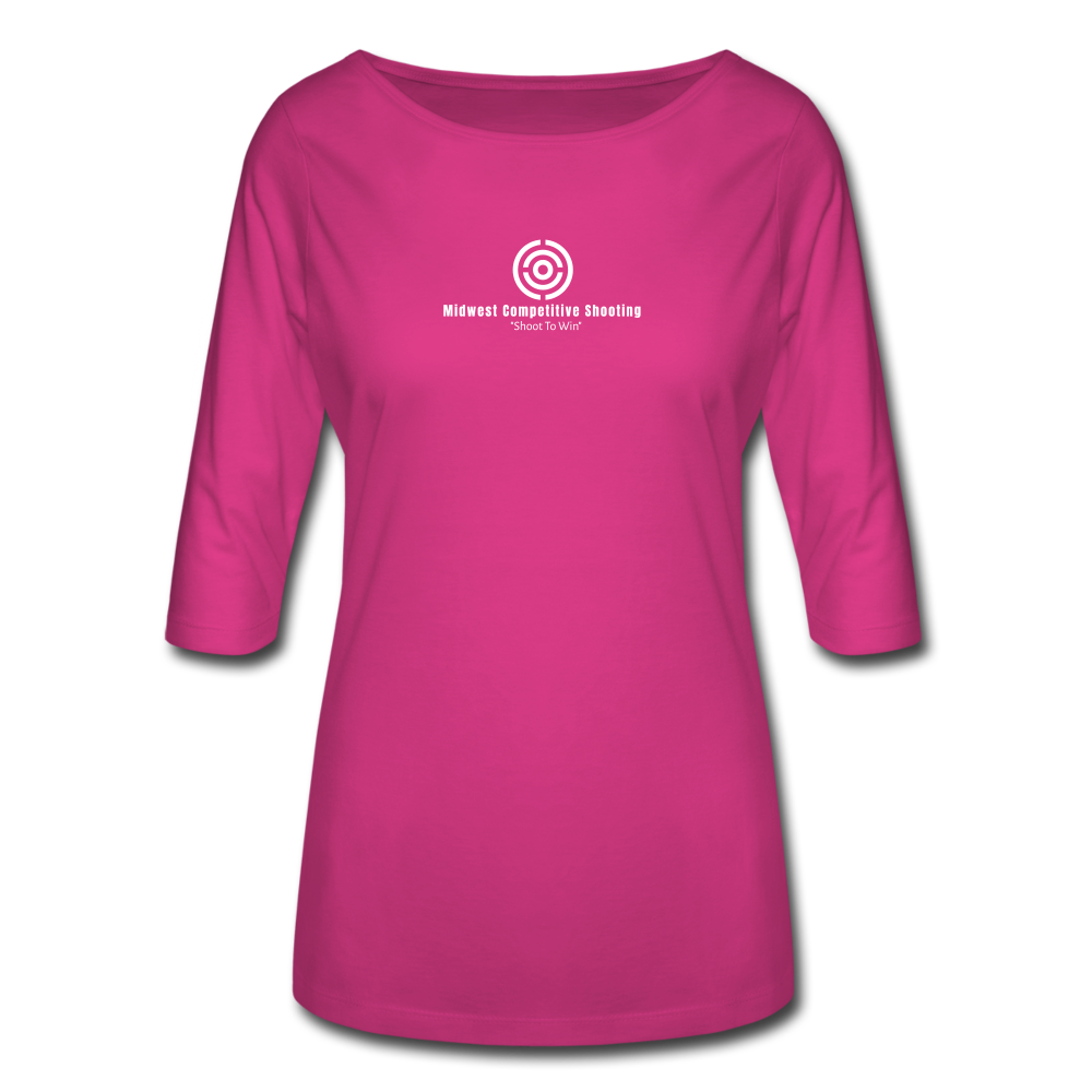 Women's 3/4 Sleeve Shirt - fuchsia