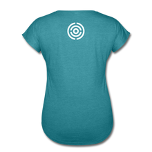 MCS Women's Tri-Blend V-Neck T-Shirt - heather turquoise