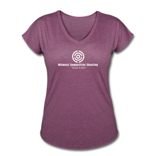 MCS Women's Tri-Blend V-Neck T-Shirt - heather plum
