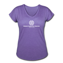MCS Women's Tri-Blend V-Neck T-Shirt - purple heather