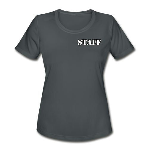 ENPS GP Sectional STAFF Women's Performance T-Shirt - charcoal