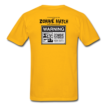 2020 Zombie Match Competitor Shirt - gold