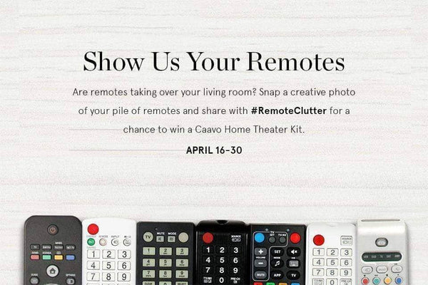 Control Center Giveaway: Show Us Your #RemoteClutter!
