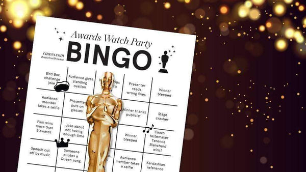 An Academy Award themed Bingo sheet
