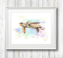 Loggerhead Hatchling Giclée Print, Giclée - Ashley Prejoles Art