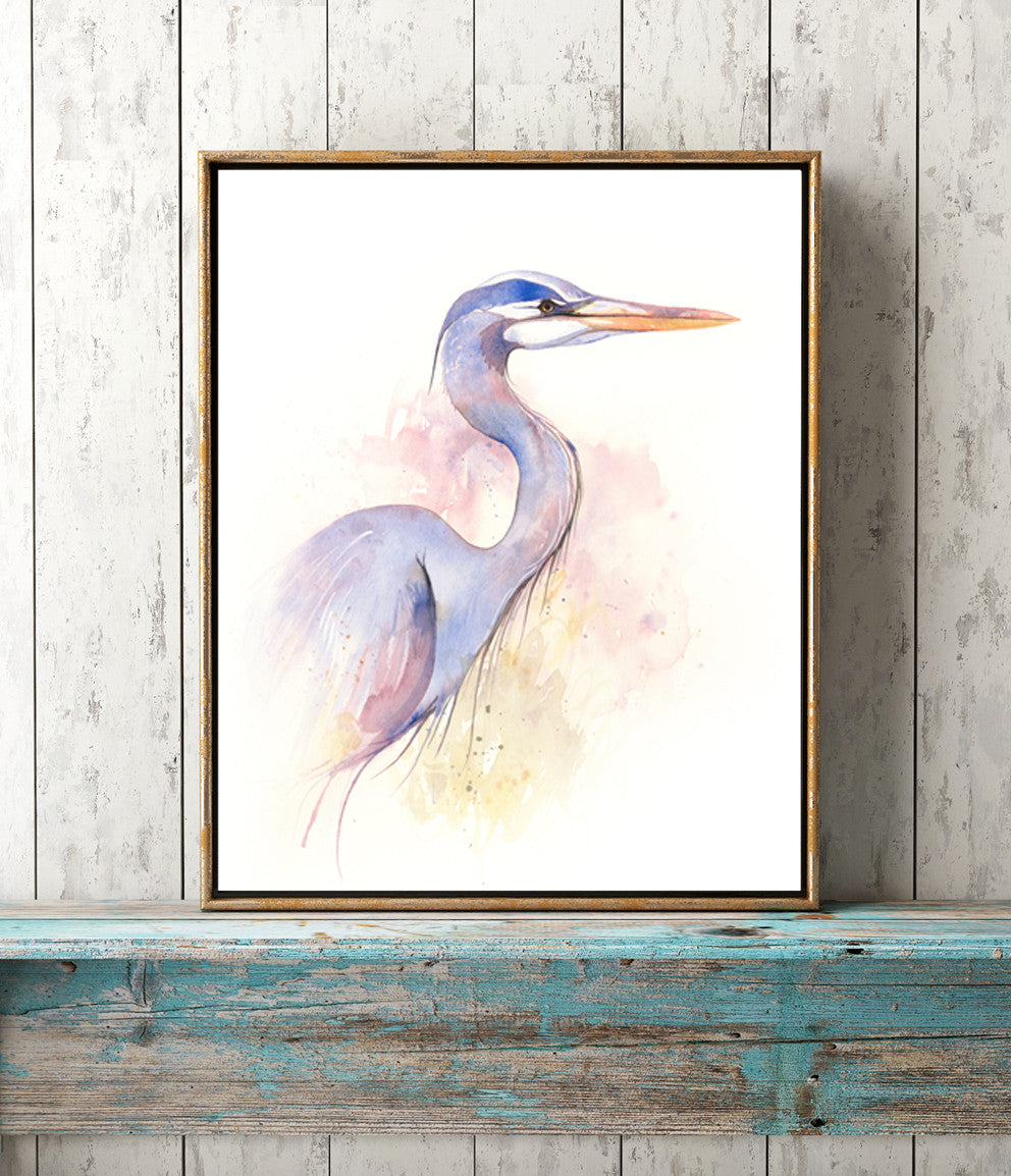 Great Blue Heron Giclée Print, Giclée - Ashley Prejoles Art
