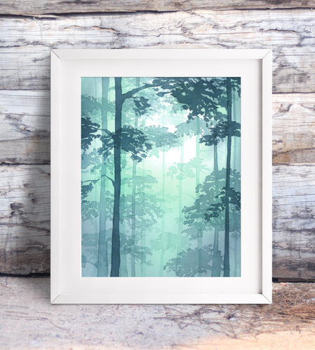 Misty Forest Giclée Print, Giclée - Ashley Prejoles Art