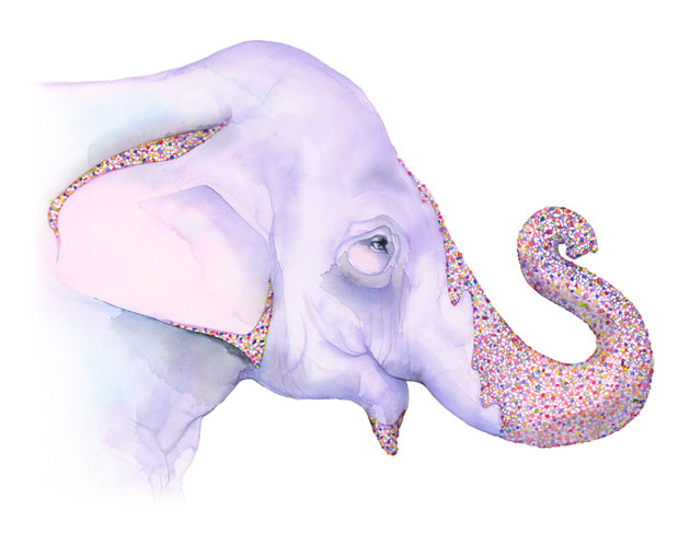 Sprinkles the Elephant Giclée Print, Giclée - Ashley Prejoles Art