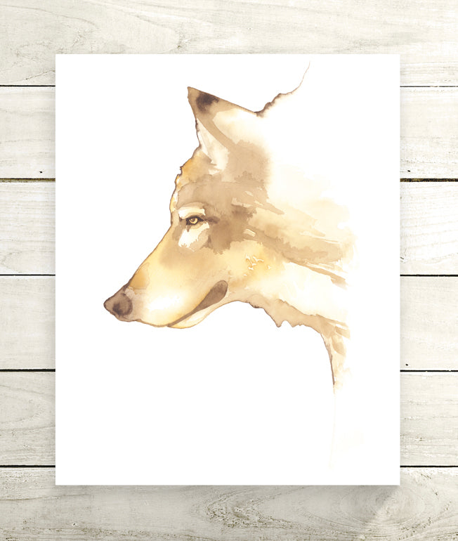 Wolf Giclée Print, Giclée - Ashley Prejoles Art
