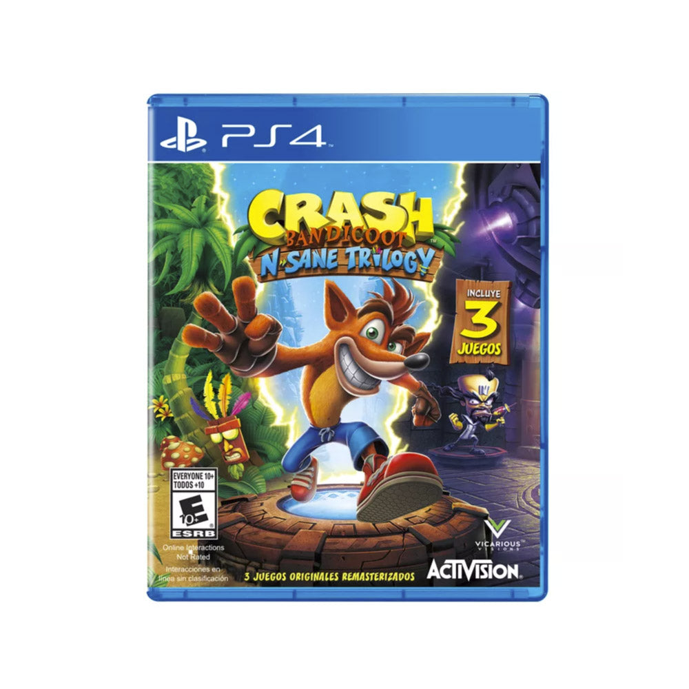 Crash Bandicoot: N.Sane Trilogy Playstation 4 - Juego Físico