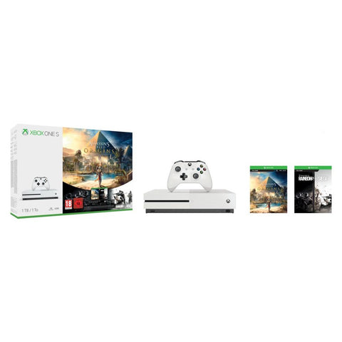 Consola Xbox One S 1TB + Assassins Creed Origins + Rainbow Six Seige
