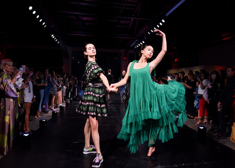 Los Angeles American Contemporary Ballet Dancers performing in Cynthia Rowley dresses.