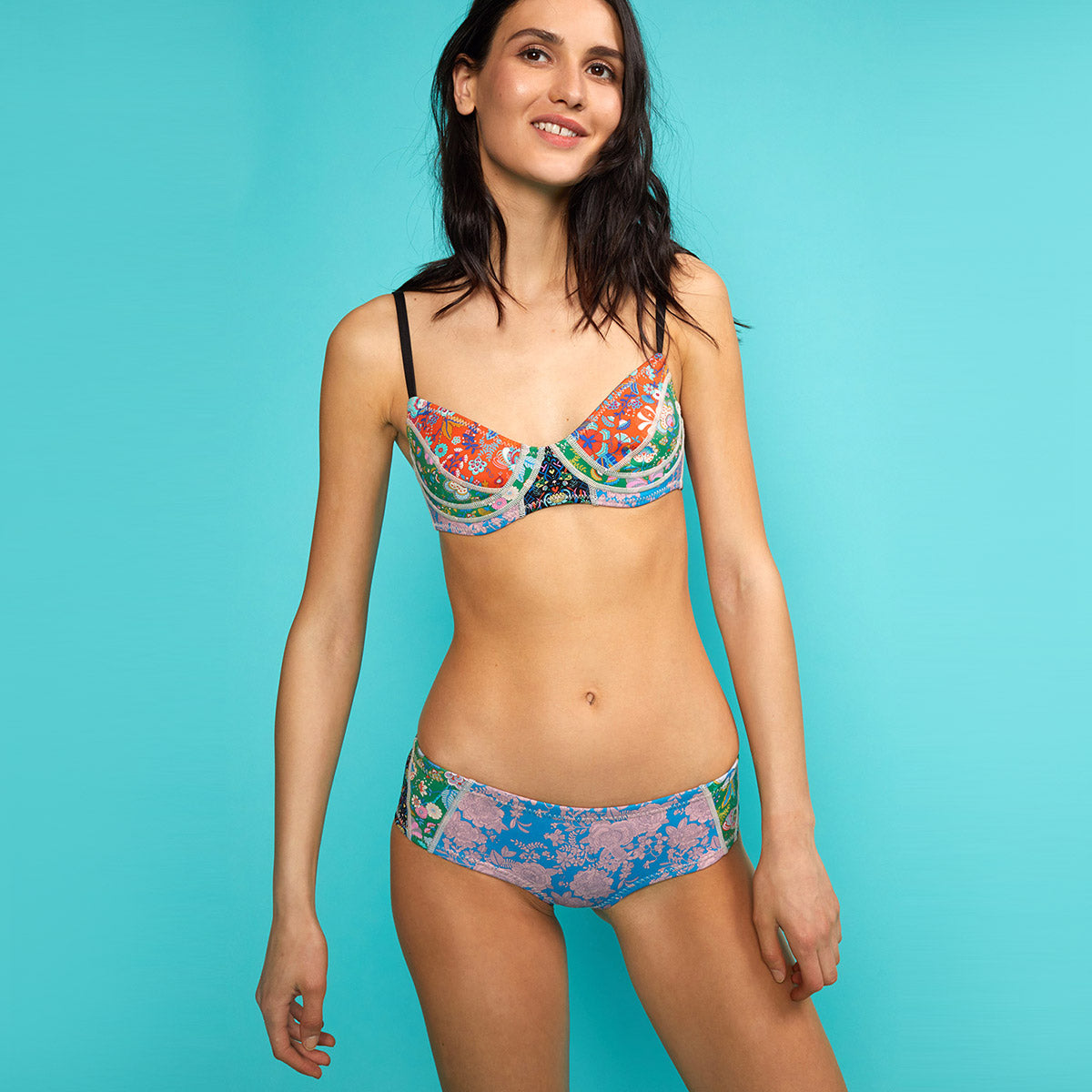 London Floral Neoprene Bikini
