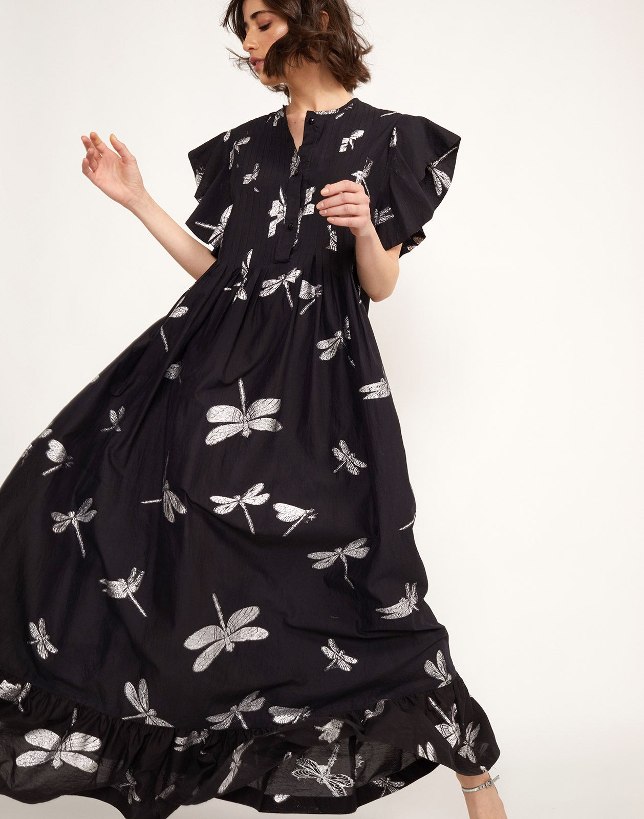 Additional view of the Nairobi Dragonfly Kaftan Dress