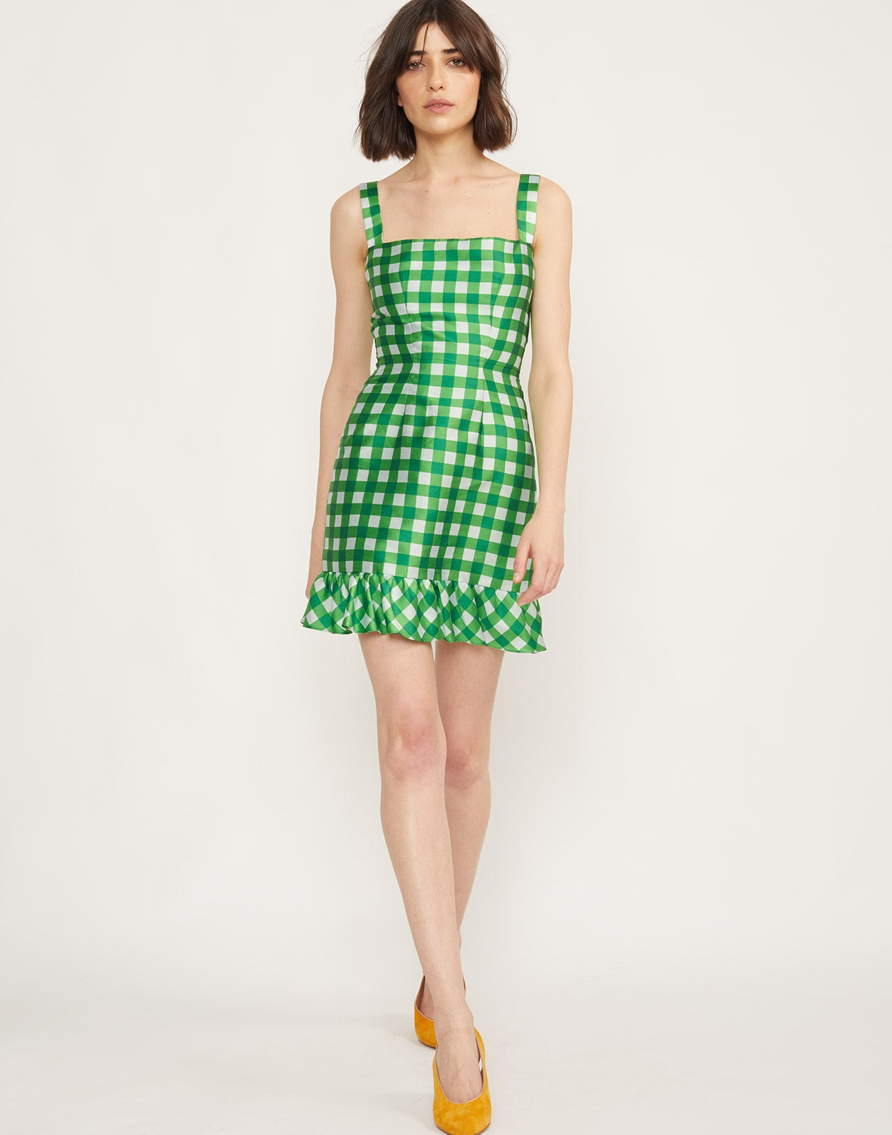 Front View of Stella Gingham Mini Dress