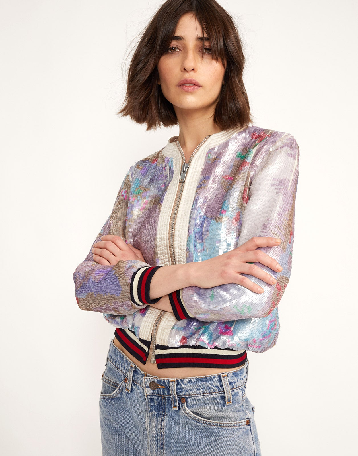 Naomi Sequin Bomber Jacket