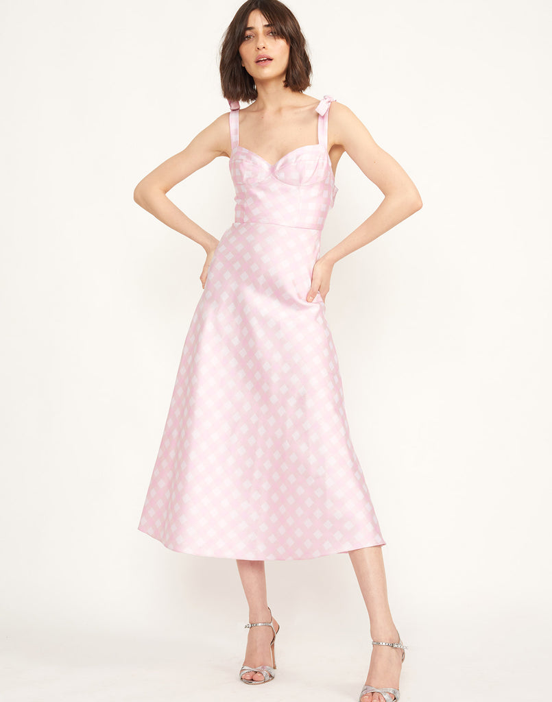 888ca30f6e4c Easton Gingham Midi Dress ...