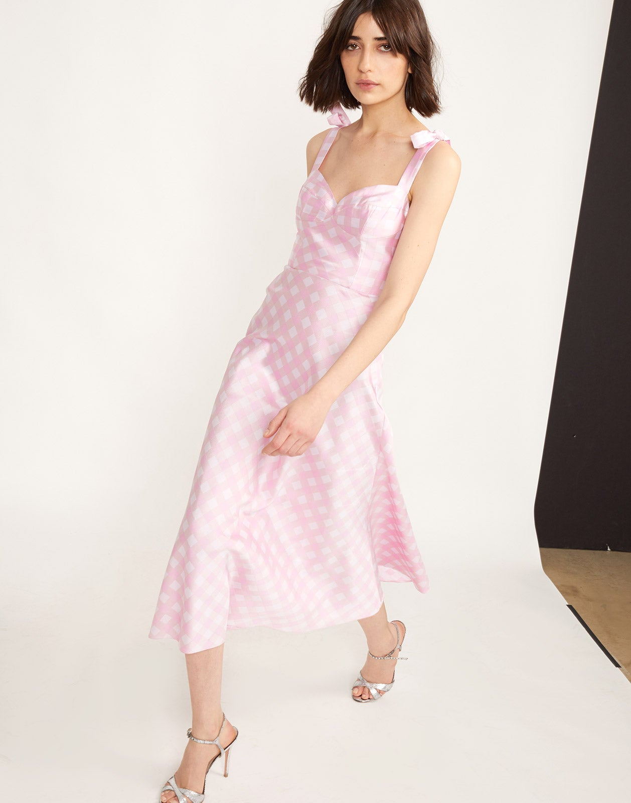 Additional view of the Easton Gingham Midi Dress