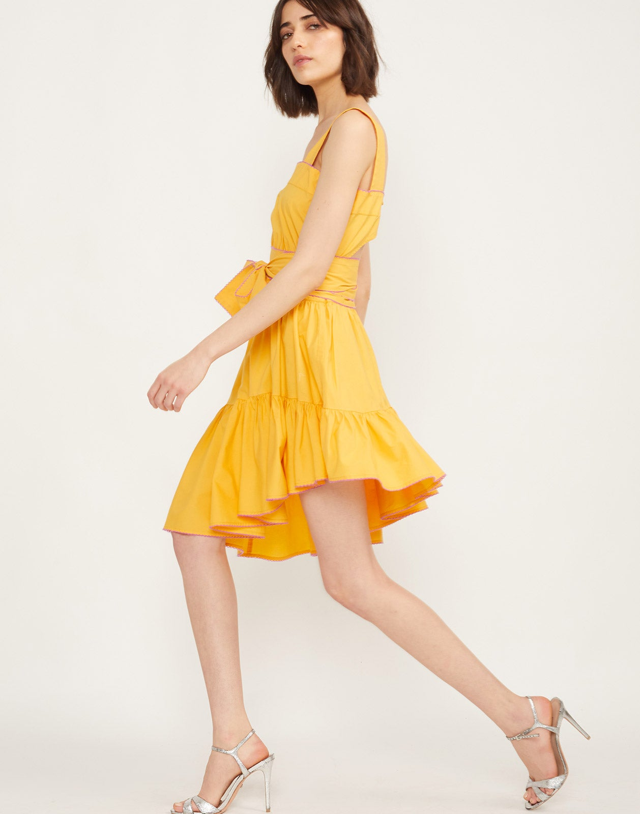 Side view of the Dahlia Sundress