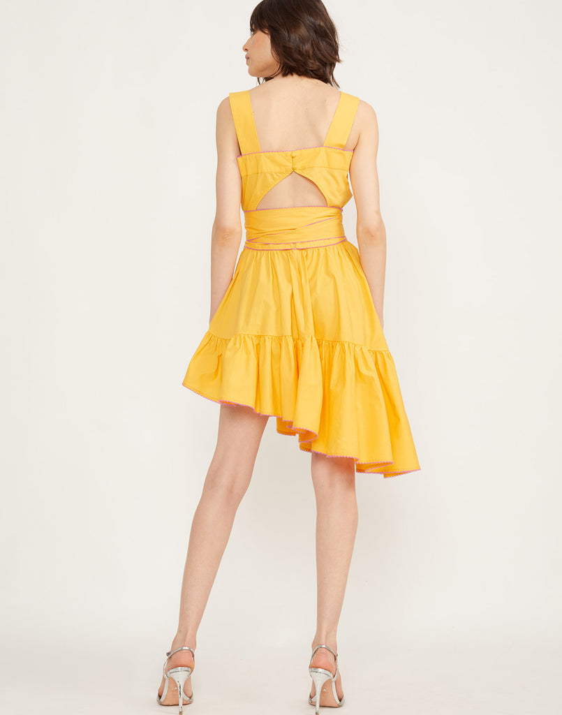 Back view of the Dahlia Sundress