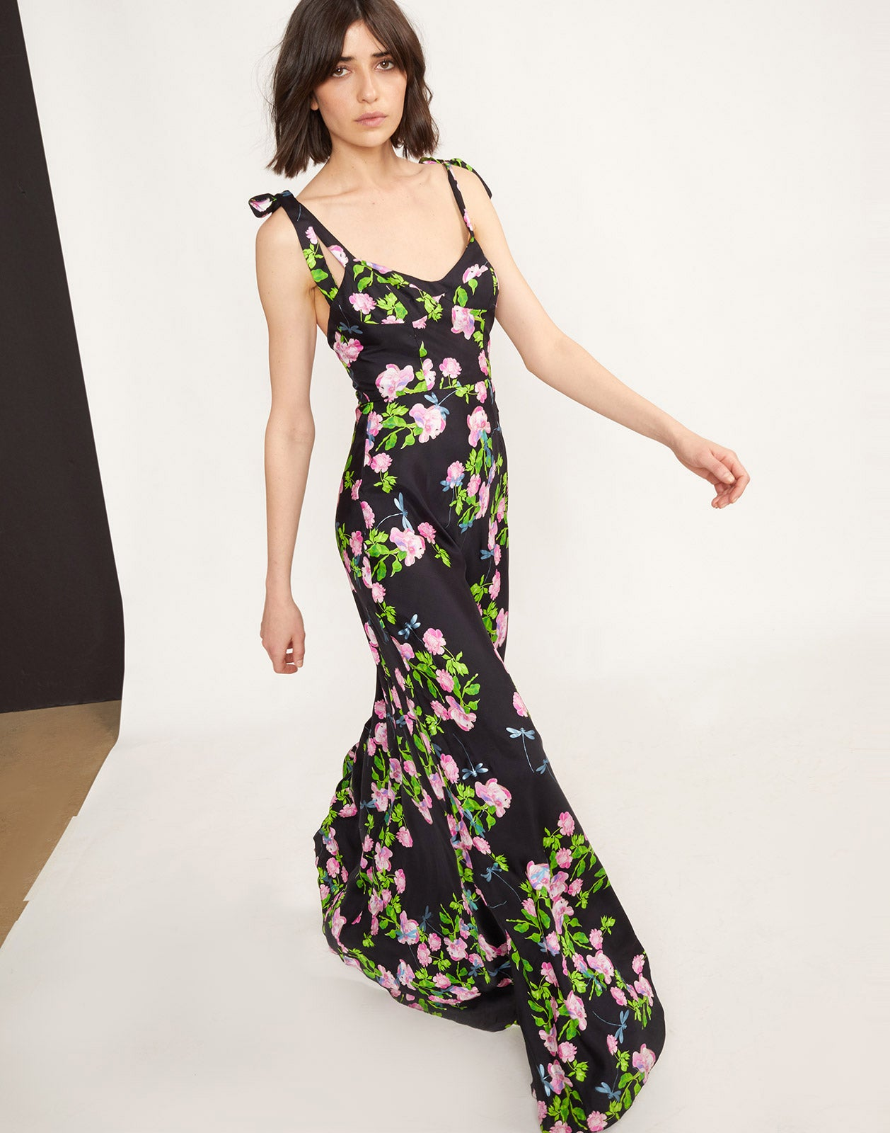 Full front view of the Ten Rose Maxi Dress