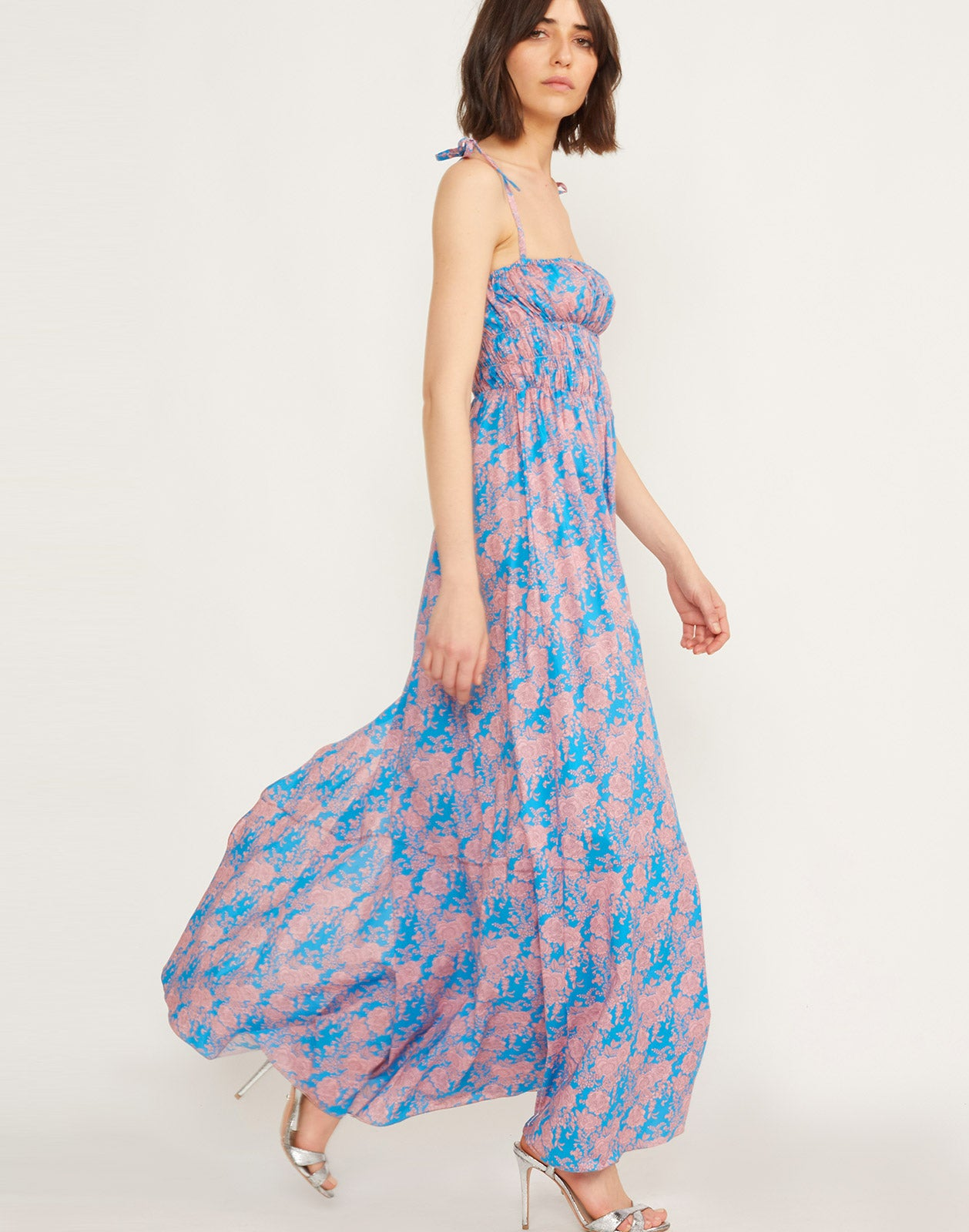 Azores Smocked Maxi Dress