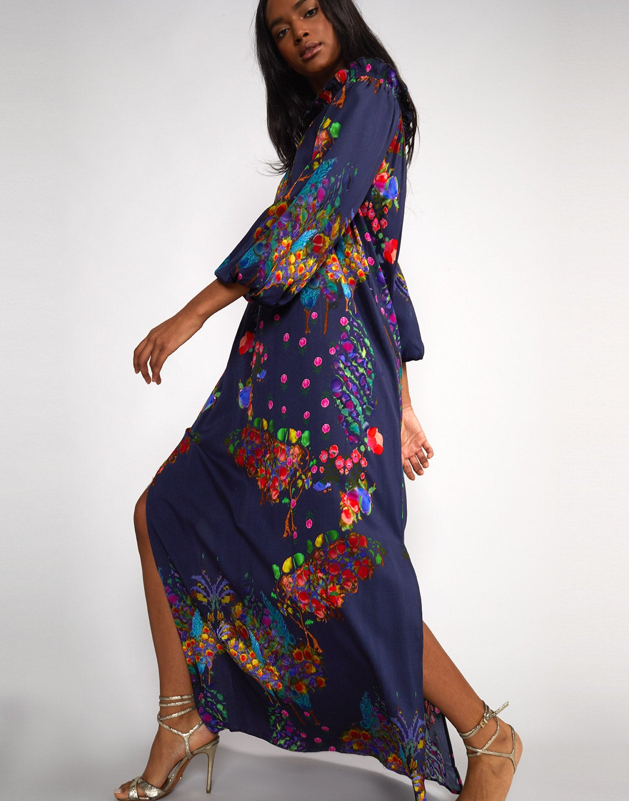 ea1df70b874b ... off Shoulder Dress · Close side view of the Roseland print Of Shoulder  Dress ...