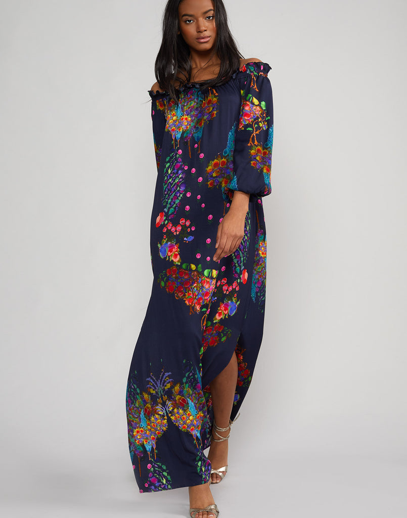 f900db01127 Full front view of the Roseland Off Shoulder Dress ...