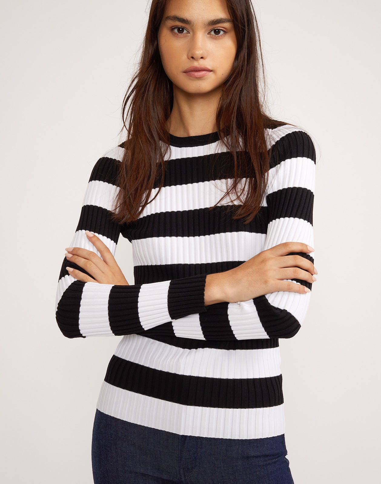 Haven Striped Ribbed Sweater