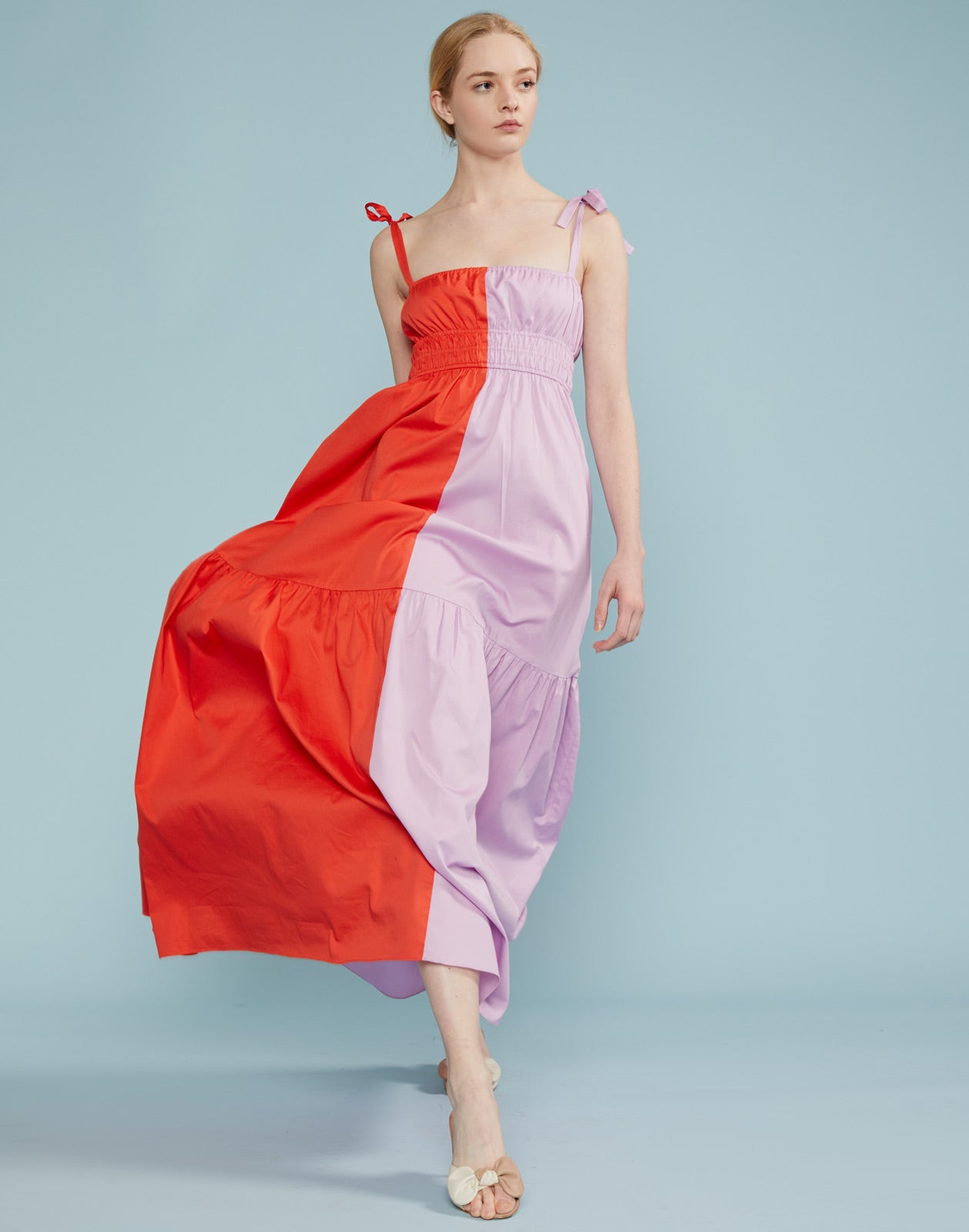 Bryn Smocked Colorblock Maxi