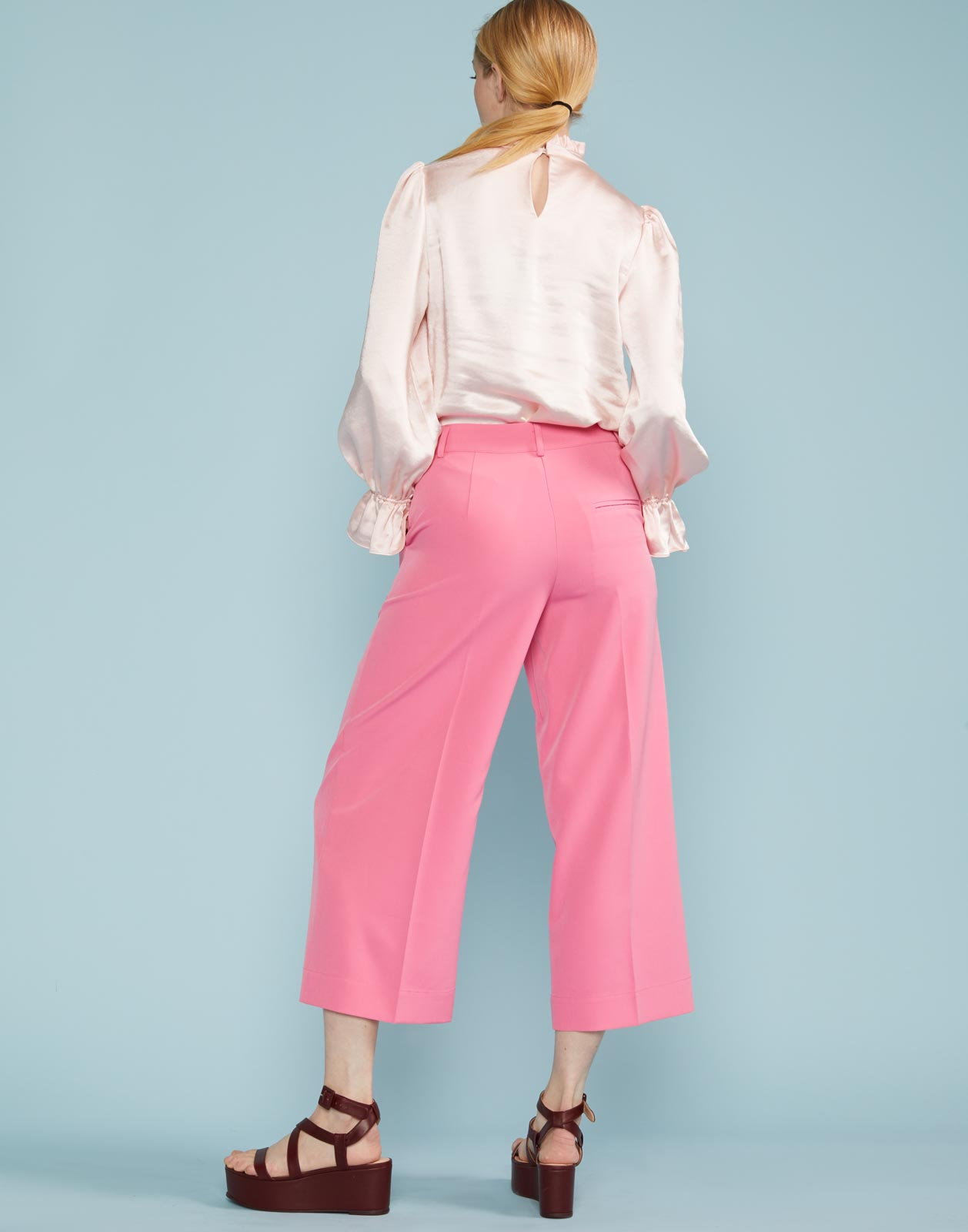 Maxwell Cropped Pleated Wide Leg Pant