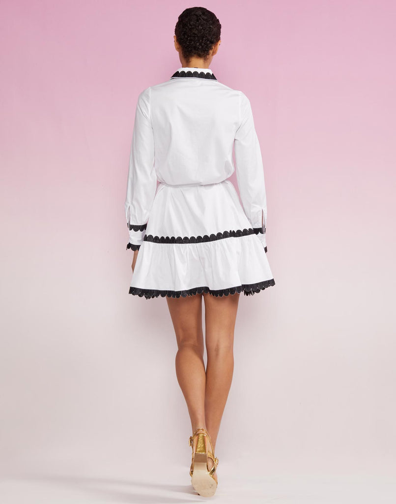 Cecily Scallop Embroidery Shirt Dress