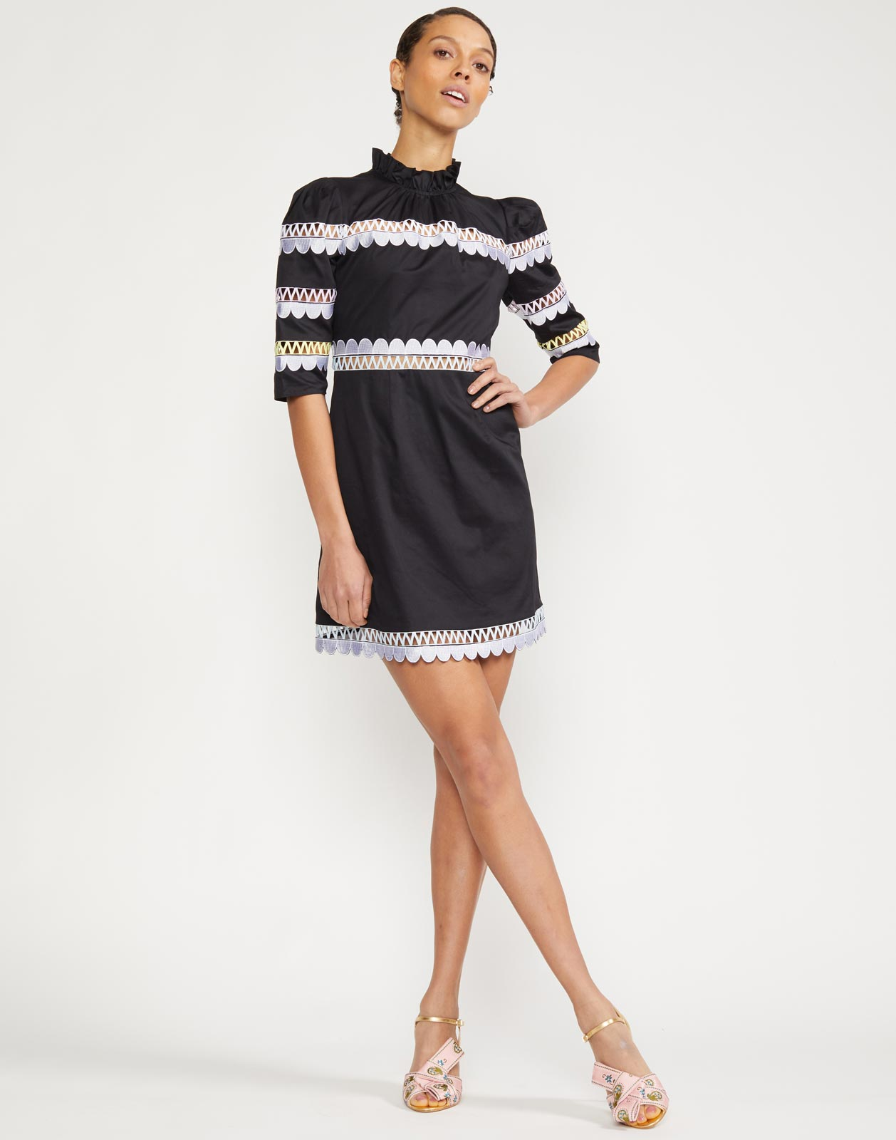 Whitley Scallop Embroidered Dress