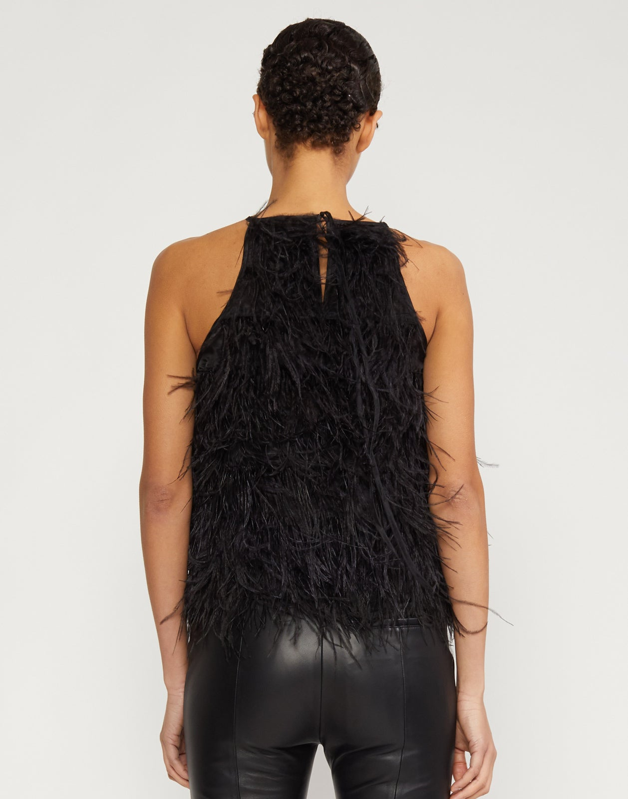 Zala Halter Feather Top