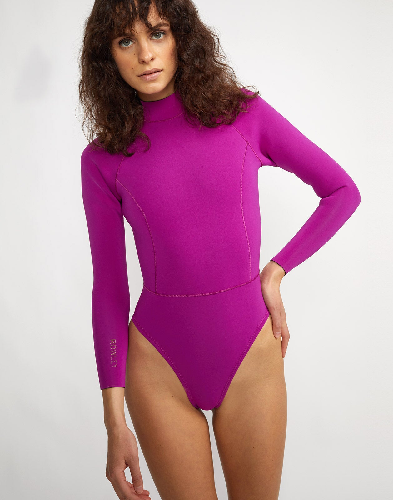 Front view of the Victoria high cut wetsuit.
