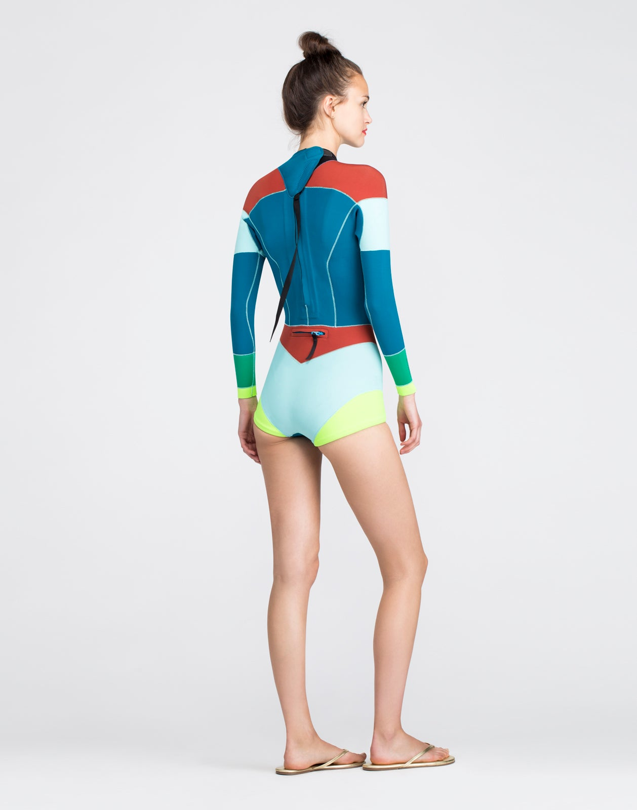 Teal Combo Colorblock Wetsuit
