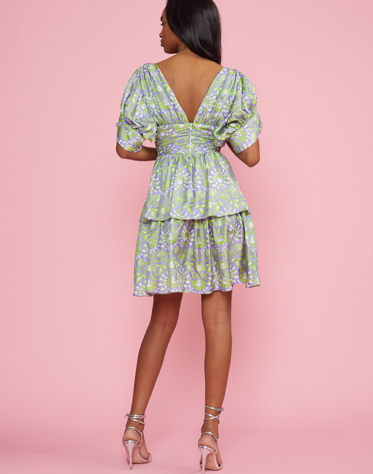 Back view of the Frieda Puff Sleeve Dress
