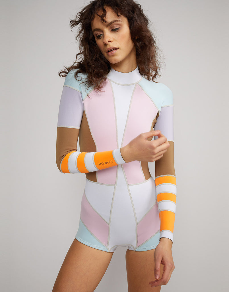 Front view of Jordan colorblock Neoprene wetsuit
