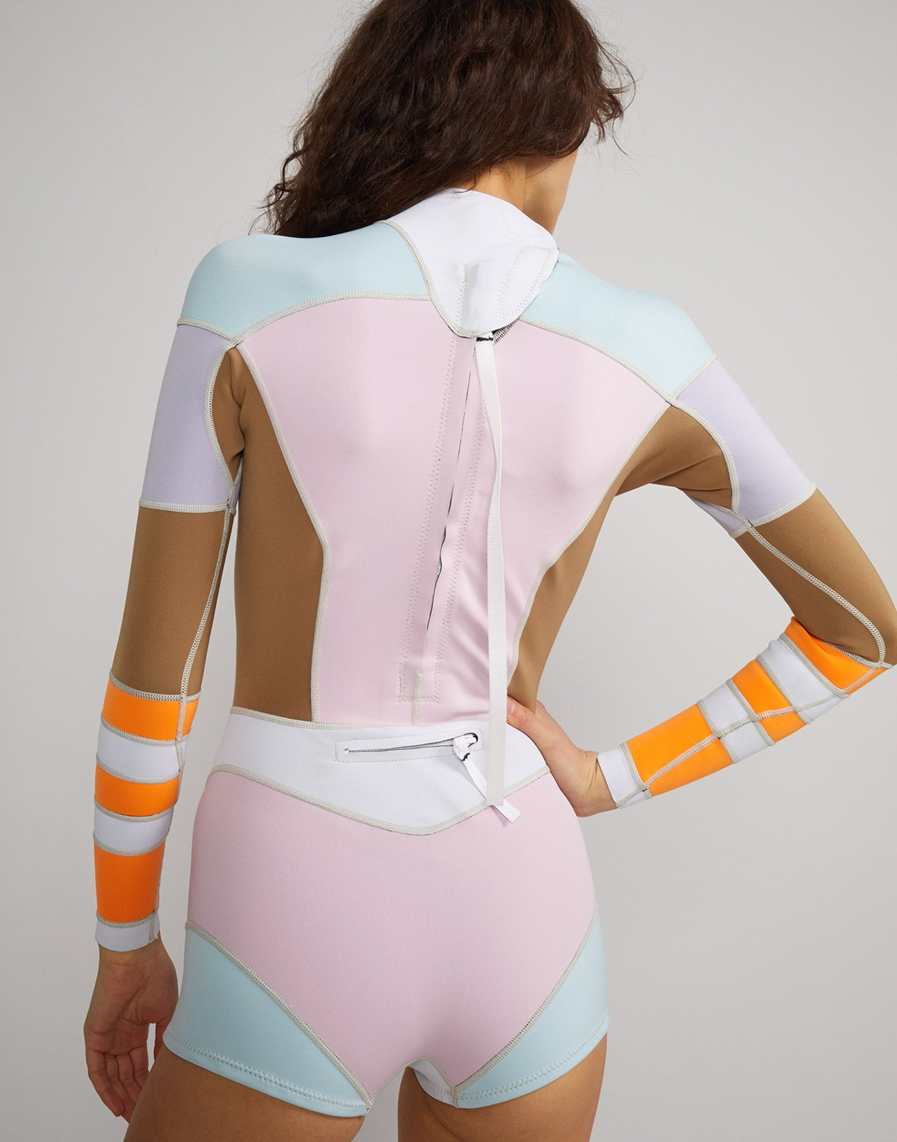 Back view of Jordan colorblock Neoprene wetsuit