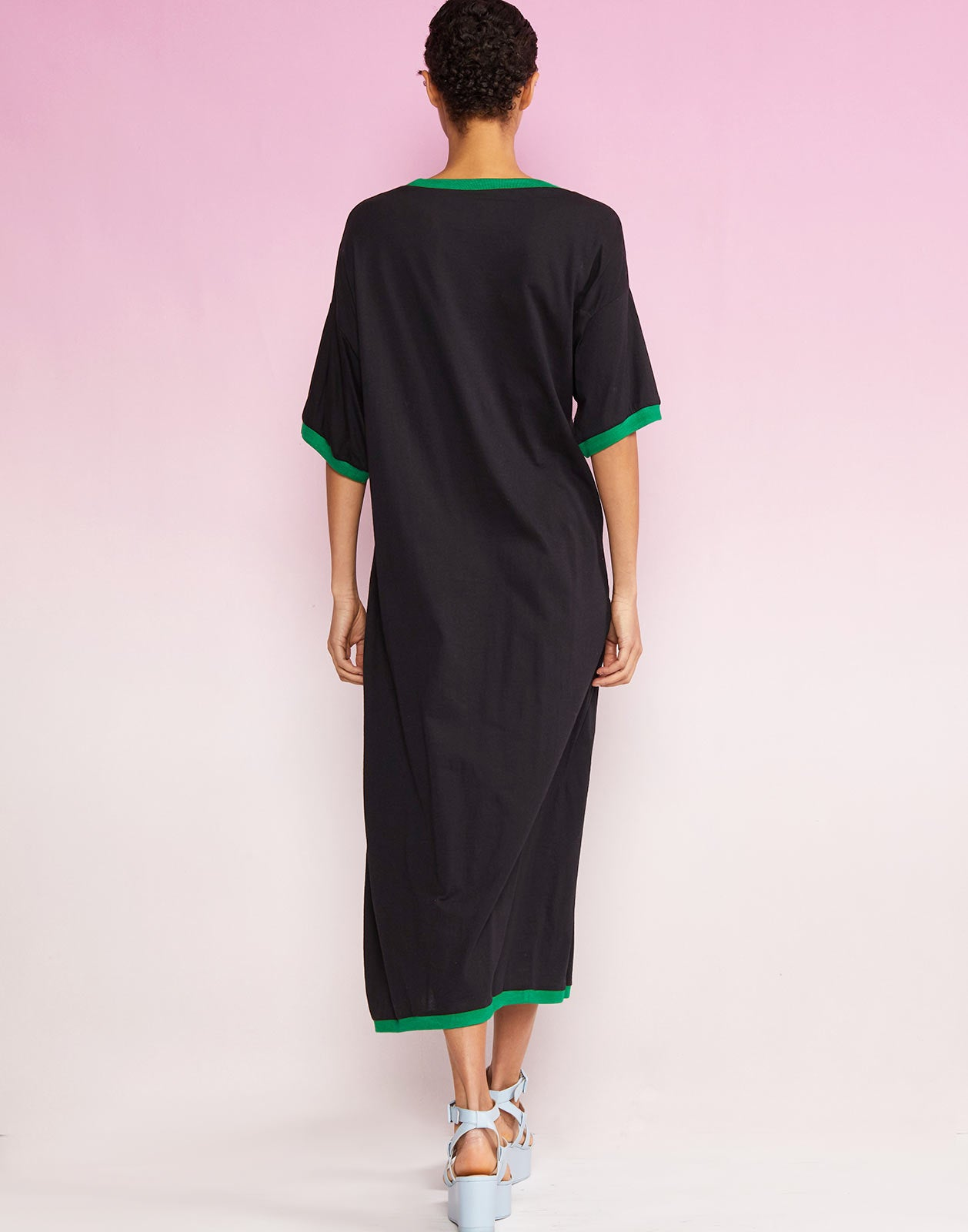 Back view of Rhyse Maxi T-Shirt Dress