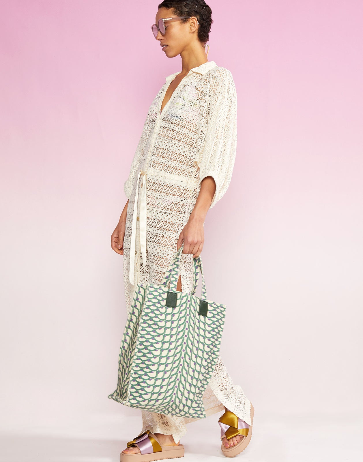 Sirena Lace Drawstring Coverup