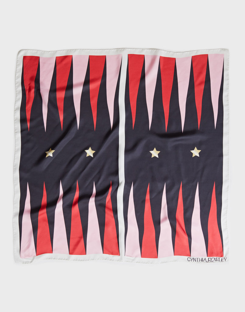 Backgammon Silk Scarf